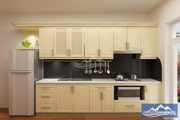 Tủ bếp gỗ hiện đại TBF003