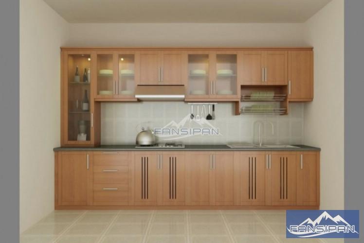 Tủ bếp gỗ hiện đại TBF001