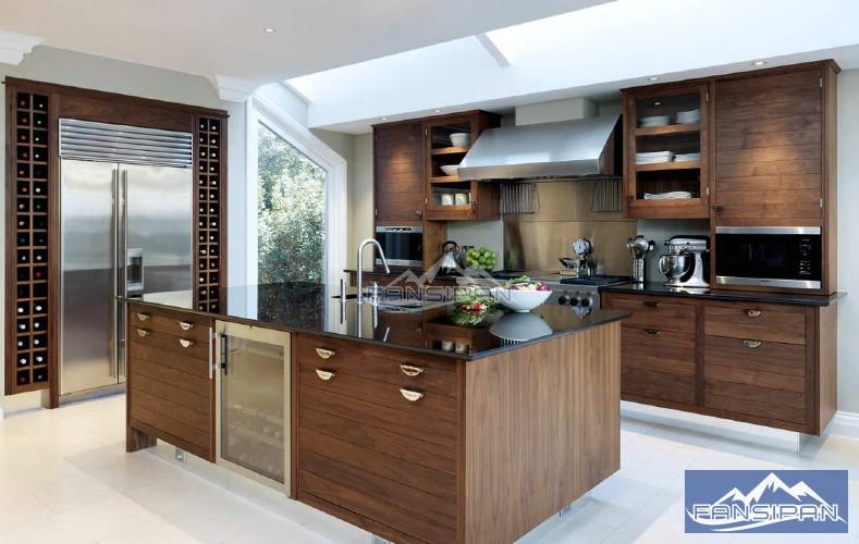 Tủ bếp gỗ hiện đại TBF002