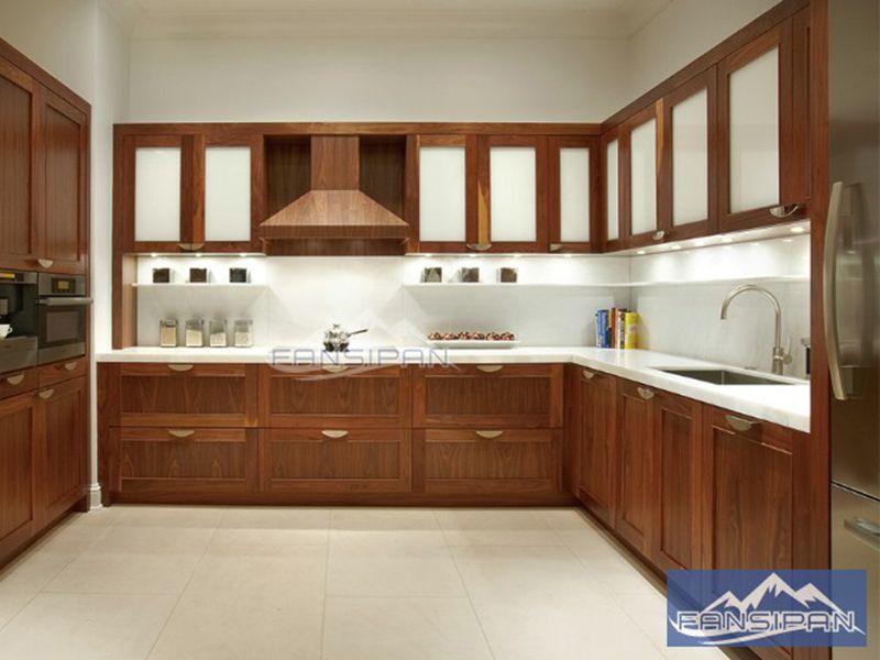 Tủ bếp gỗ hiện đại TBF005