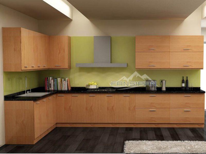 Tủ bếp gỗ hiện đại TBF009
