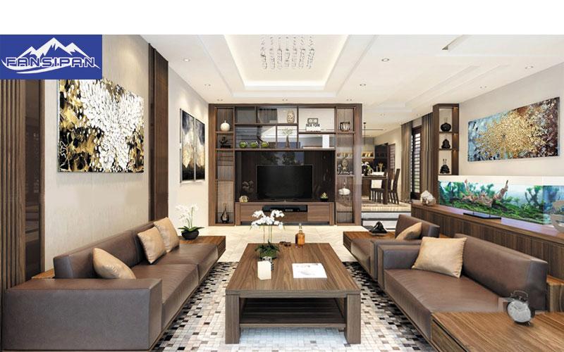 Bàn ghế Sofa gỗ phòng khách BGF034